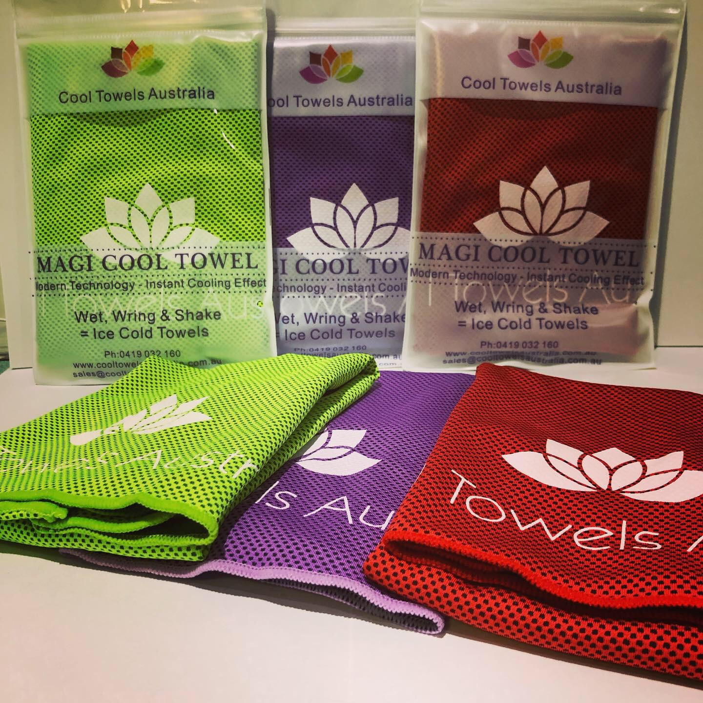 BUY 2 GET 1 FREE – Online Special Only – Magi Cool Towels UPF 50+ Inc Postage With Tracking Within Australia