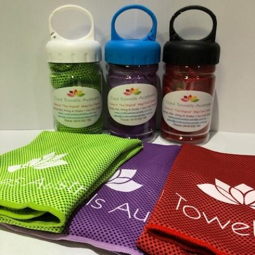 Buy 2 Get 1 Free – Online Special Only – Magi Cool Towels In Bottles UPF 50+ Inc Postage With Tracking Within Australia